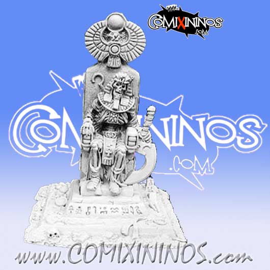 Egyptian Tomb kings - Mummy King on Throne: Egyptian Tomb kings Coach - Reaper