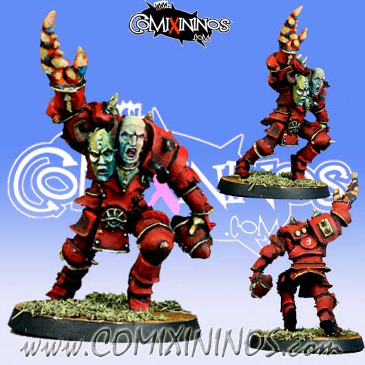 Evil - Mutated Evil Warrior with Two Heads - Meiko Miniatures