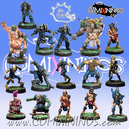 Necromantic - Complete Team of 16 Players - Meiko Miniatures
