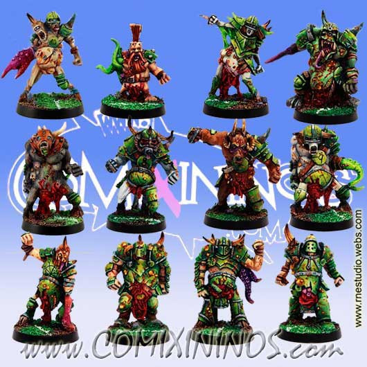 Rotten - Rotten Team of 12 Players - Meiko Miniatures