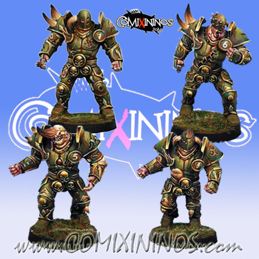Rotten - Set of 4 Rotten Warriors Lords of Corruption - Willy Miniatures