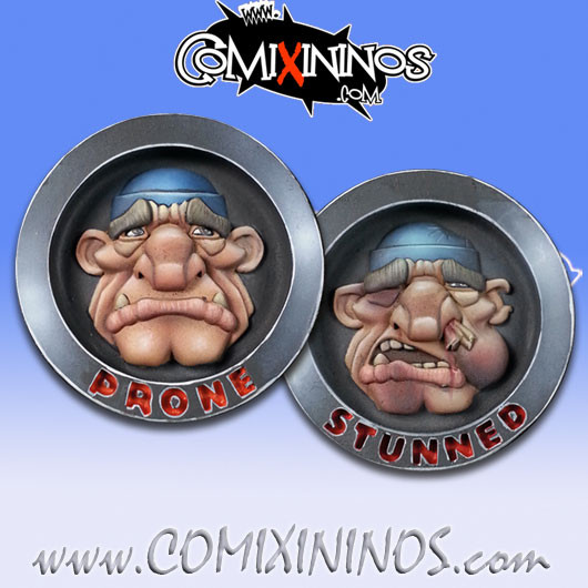 Double Sided Stunned/Prone Coin for Ogres - Chaos Factory