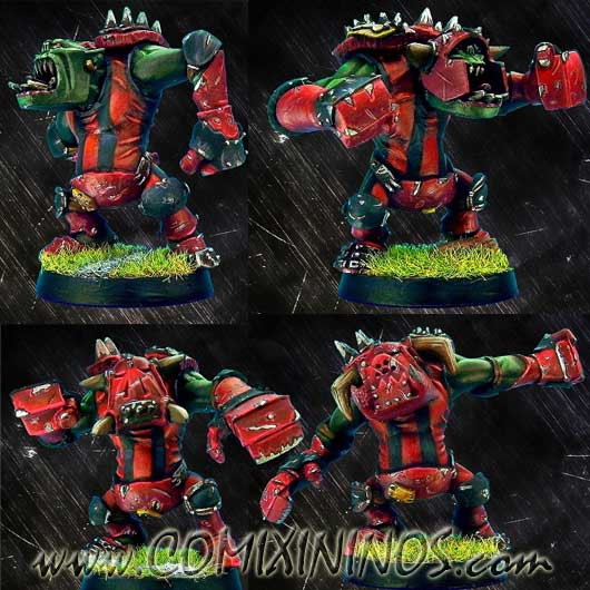 Orcs - Set of 4 Metal Black Orcs - Necrom Studio
