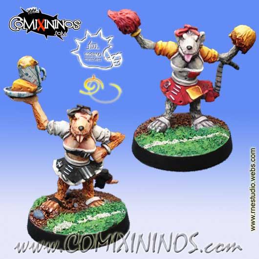 Ratmen - Set of 2 Ratmen Bloodweiser Girl and Cheerleader - Meiko Miniatures