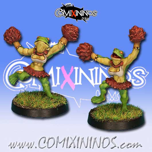 Frogmen - Set of 2 Cheerleaders Horned Frogs - Rolljordan