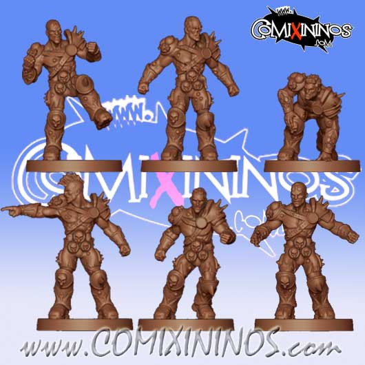 Rotten / Undead - Set of 6 Rotters Lords of Corruption - Willy Miniatures