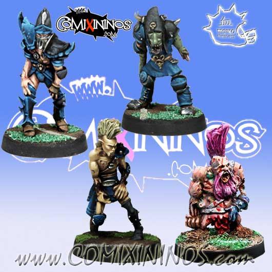 Undead / Necromantic - Set A of 4 Racial Zombies - Meiko Miniatures