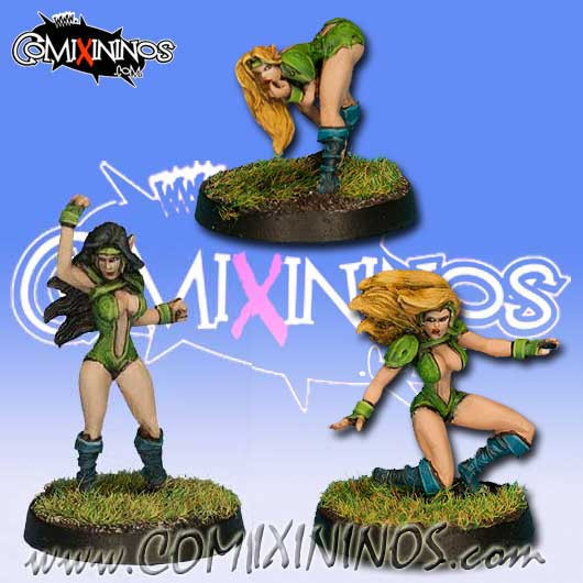 Wood Elves - Set C of 3 Silvania Linewomen - Rolljordan