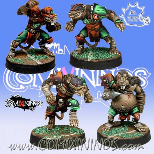 Ratmen - Set of 4 Ratmen Linemen - Meiko Miniatures