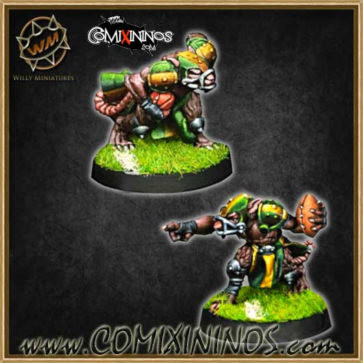 Ratmen - Set of 2 Ratmen Throwers - Willy Miniatures