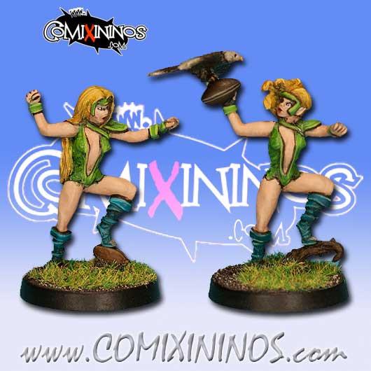 Wood Elves - Set of 2 Silvania Throwers - Rolljordan