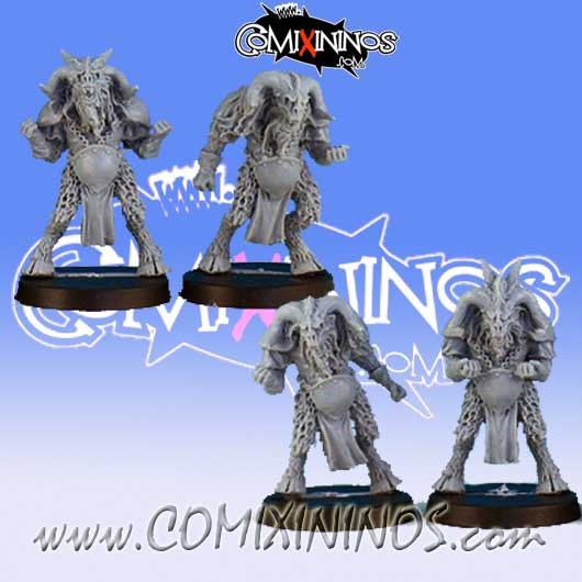 Evil - Set of 4 Beastmen Players - Black Scorpion
