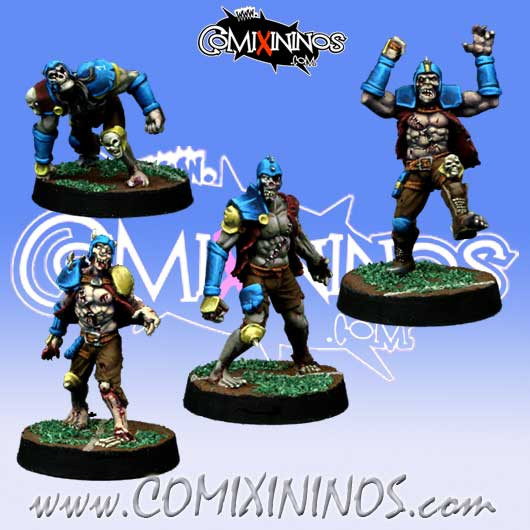Undead / Necromantic - Set of 4 Zombies - Willy Miniatures