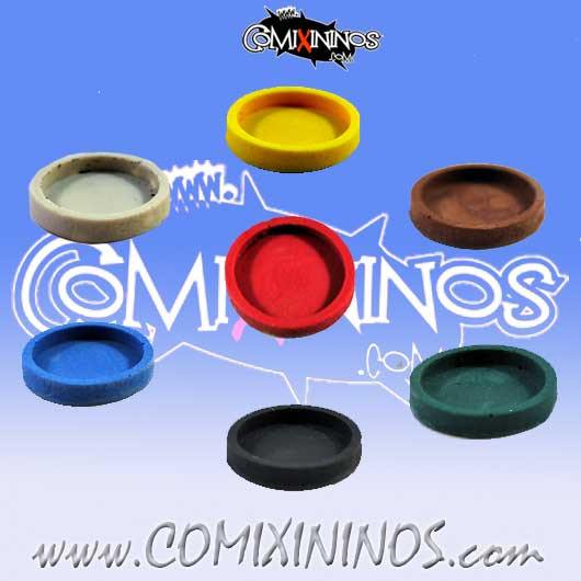 Godoy Skill Markers - Set of 7 Multicolor Resin Bases