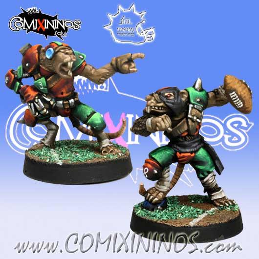Ratmen - Set of 2 Ratmen Throwers - Meiko Miniatures