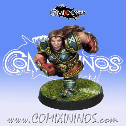 Dwarves - She-Dwarf Star Player - Willy Miniatures