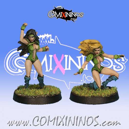 Wood Elves - Set D of 2 Silvania Catchers or Linewomen - Rolljordan
