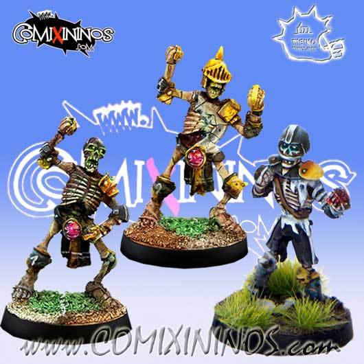 Undead - Set of 3 Skeletons - Meiko Miniatures