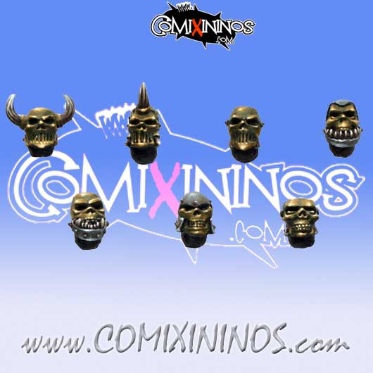 Skull Tribe Heads Set of 10 - MaxMini