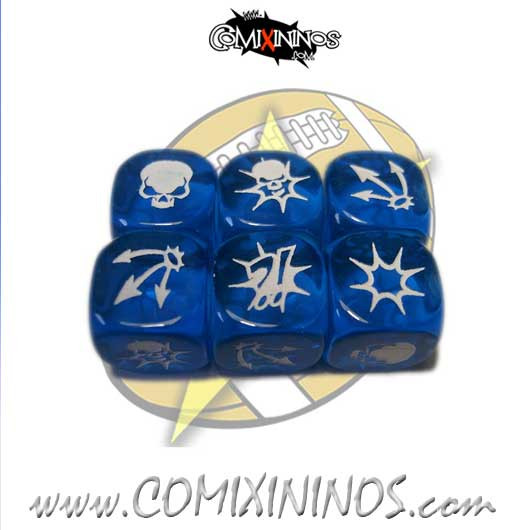 Set of 3 Blue Block Dice - SP Miniaturas