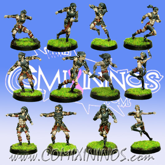 Dark Elves - Tanatos Dark Elf Team of 12 Players - MK1881