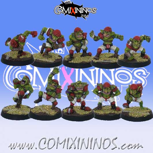 Goblins - Set of 10 Goblin Players - Willy Miniatures