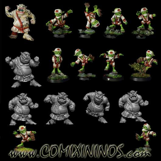 Ogres - Tengu Complete Ogre Team of 16 Players - Rolljordan