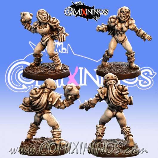 Orcs - Set A of 2 Orc Blitzers nº 1 and nº 2 – Baueda