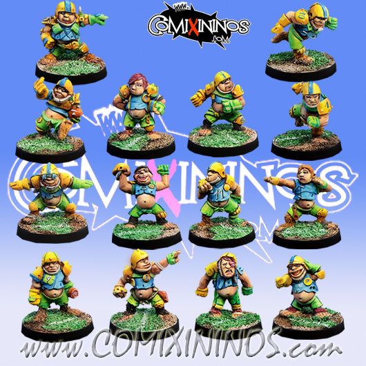 Halflings - Ultimate Team of 14 Players - Willy Miniatures
