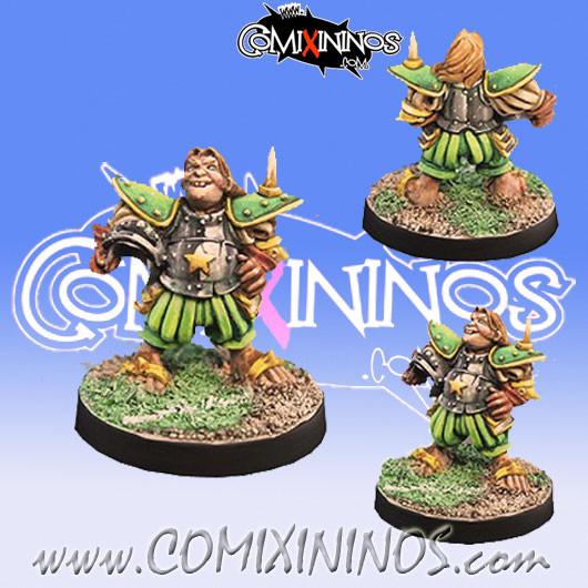 Halflings - Imperial Poggy Halfling Star Player - Willy Miniatures