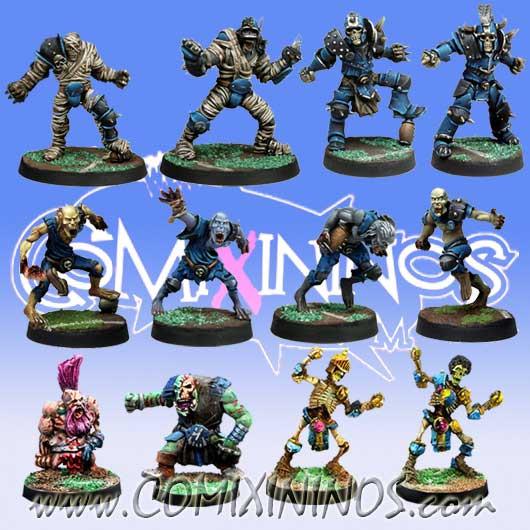 Undead - Team of 12 Players - Meiko Miniatures