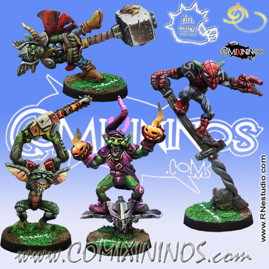 Goblins - Set of 4 Goblins with Secret Weapons - Meiko Miniatures