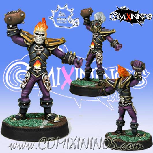 Undead / Dark Elves - Wight or Dark Elf Blitzer RevaBowl IV - Meiko Miniatures
