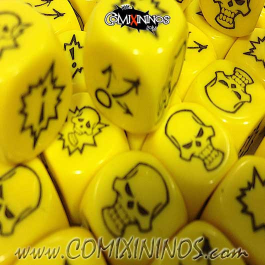 Set of 3 Yellow Block Dice - Willy Miniatures