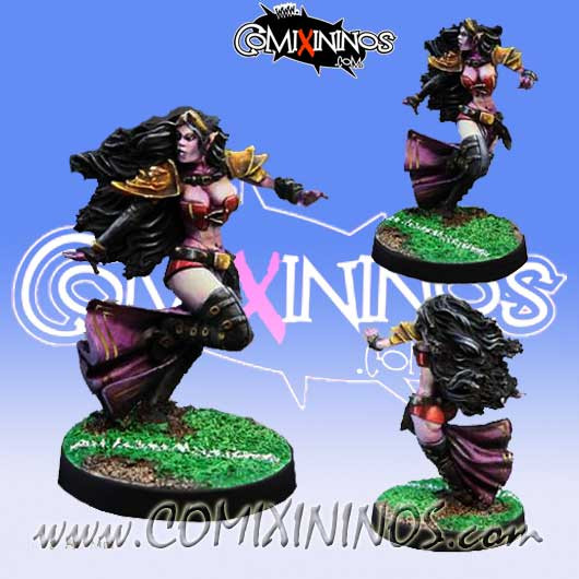 Dark Elves - Dark Elf Witch - Willy Miniatures