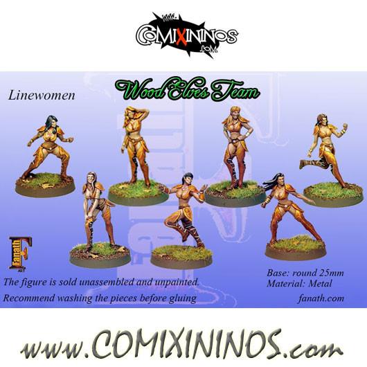 Wood Elves - Set of 7 Linewomen - Fanath Art