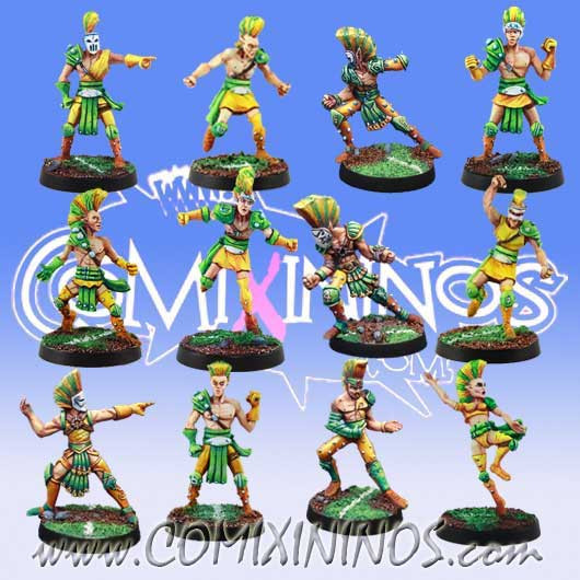 Wood Elves - Team of 12 Players - Meiko Miniatures