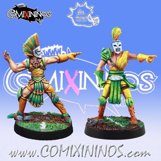 Wood Elves / Elves - Set of 2 Throwers - Meiko Miniatures