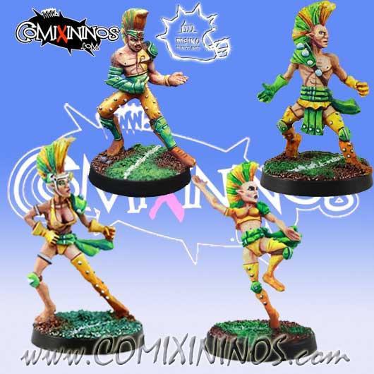 Wood Elves / Elves - Set of 4 Catchers - Meiko Miniatures