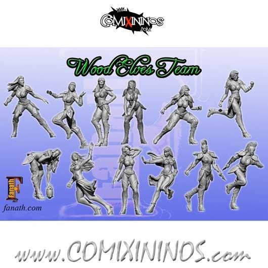 Wood Elves - Wood Elf Team of 12 Players - Fanath Arts