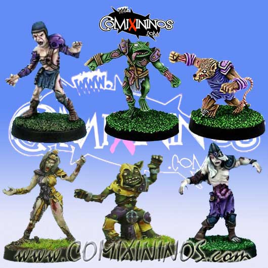 Undead / Necromantic - Pack 2 of 6 Racial Zombies - Rolljordan