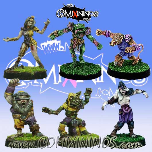 Undead / Necromantic - Pack 3 of 6 Racial Zombies - Rolljordan