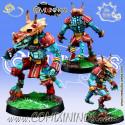 Lizardmen -  Silly Billy Lizaurus Star Player - Meiko Miniatures