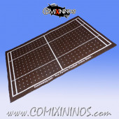 Dark Brown Felt Gaming Mat - Comixininos