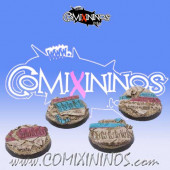 Set of Four 40 mm Egyptian Tomb Kings Bases - Tabletop Arts
