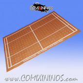 Light Brown Felt Gaming Mat - Comixininos
