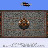 34 mm Evil Dwarf Plastic Gaming Mat NO Dugouts - Comixininos