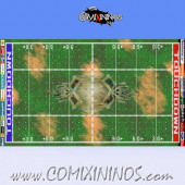 34 mm Skulls Plastic Gaming Mat NO Dugouts - Comixininos