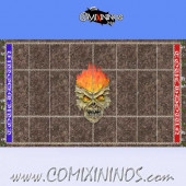 34 mm Undead Plastic Gaming Mat NO Dugouts - Comixininos