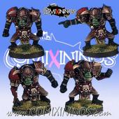 Orcs - Set of 4 Linemen - Black Scorpion